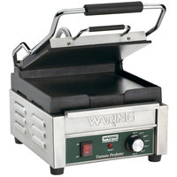 Waring WFG150 Tostato Perfetto Smooth Top & Bottom Panini Sandwich Grill - 9 3/4 inch x 9 1/4 inch Cooking Surface - 120V, 1800W