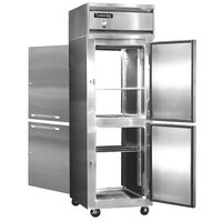 Continental Refrigerator 1F-SS-PT-HD 26 inch Half Door Pass-Through Freezer - 20 Cu. Ft.