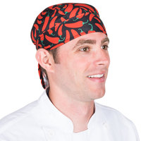 Headsweats 8740-801SCHILIPEPPERS Chili Peppers Shorty Chef Cap