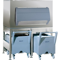 Follett ITS1350SG-60 ITS Series 60 inch Ice Storage and Transport System with 2 Transport Carts - 1327 lb.