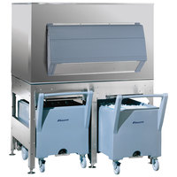 Follett ITS2250SG-60 ITS Series 60 inch Ice Storage and Transport System with 2 Transport Carts - 2133 lb.