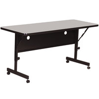 Correll Deluxe Flip Top Table, 24 inch x 72 inch High Pressure Adjustable Height, Gray Granite - FT2472-15