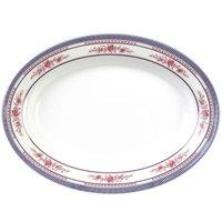 Rose 9 7/8 inch x 7 1/4 inch Oval Melamine Platter - 12 / Pack