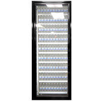 Styleline CL3080-NT Classic Plus 30 inch x 80 inch Walk-In Cooler Merchandiser Door with Shelving - Satin Black, Left Hinge