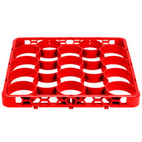 Carlisle REW20SC05 OptiClean NeWave 20 Compartment Red Color-Coded Short Glass Rack Extender
