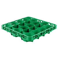 Carlisle REW20LC09 OptiClean NeWave 20 Compartment Green Color-Coded Long Glass Rack Extender