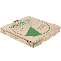 GreenBox 16 inch x 16 inch x 2 inch Corrugated Pizza Box with Built-In Plates and Storage Container - 50/Case