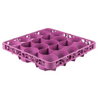 Carlisle REW20LC89 OptiClean NeWave 20 Compartment Lavender Color-Coded Long Glass Rack Extender