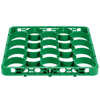 Carlisle REW20SC09 OptiClean NeWave 20 Compartment Green Color-Coded Short Glass Rack Extender