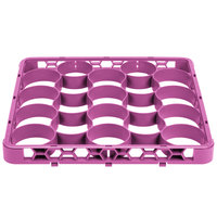 Carlisle REW20SC89 OptiClean NeWave 20 Compartment Color-Coded Glass Rack Divided Extender - Lavender