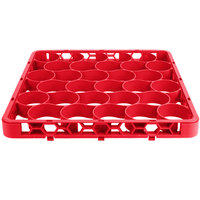 Carlisle REW30SC05 OptiClean NeWave 30 Compartment Color-Coded Glass Rack Divided Extender - Red