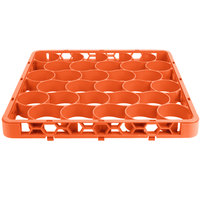 Carlisle REW30SC24 OptiClean NeWave 30 Compartment Color-Coded Glass Rack Divided Extender - Orange