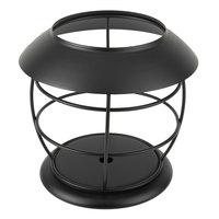 Sterno Products 85192 5 1/4 inch x 4 1/2 inch Black Nautical Metal Lamp Base