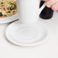 Tuxton ALE-060 Alaska 6 inch Bright White China Coupe Saucer - 36/Case