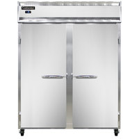 Continental Refrigerator 2FES-SS 57 inch Solid Door Extra Wide Shallow Depth Reach-In Freezer - 40 Cu. Ft.