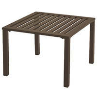 Grosfillex US020037 Atlantica 20 inch Square Bronze Low Outdoor Table