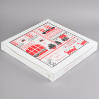 16 inch x 16 inch x 2 inch Clay Coated Pizza Box - 100/Bundle