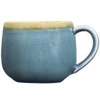Cardinal Arcoroc FJ356 Terrastone 8.5 oz. Blue Porcelain Coffee Cup - 48/Case