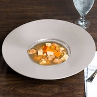 Chef & Sommelier S0785 Savor 10 oz. Taupe Specialty Deep Plate by Arc Cardinal - 12/Case