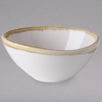 Arcoroc FJ554 Terrastone 8 oz. White Porcelain Bowl by Arc Cardinal - 24/Case