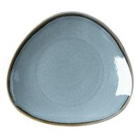 Arcoroc FJ350 Terrastone 6 1/2 inch Blue Porcelain Plate by Arc Cardinal - 36/Case