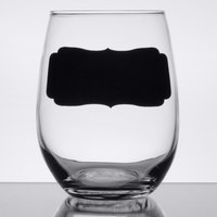 Arcoroc D1CM5806 15 oz. Stemless Wine Glass with Chalkboard by Arc Cardinal - 12/Case