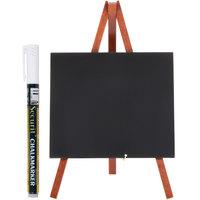 American Metalcraft MNIMKR1 Mahogany 6 inch x 10 inch Mini Tabletop Chalkboard