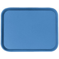 Cambro 1418FF168 14 inch x 18 inch Blue Customizable Fast Food Tray - 12/Case