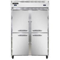 Continental Refrigerator 2RF-HD 52 inch Half Door Dual Temperature Reach-In Refrigerator / Freezer - 40 cu. ft.