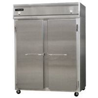 Continental Refrigerator 2RFE-SS 57 inch Solid Door Extra-Wide Dual Temperature Reach-In Refrigerator / Freezer - 42 cu. ft.