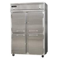 Continental Refrigerator 2RF-SS-HD 52 inch Half Door Dual Temperature Reach-In Refrigerator / Freezer - 40 cu. ft.