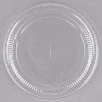Choice 5-7 oz. Clear Plastic Lid with Straw Slot - 50/Pack