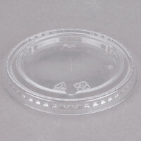 Choice 3.25-5 oz. Clear Plastic Lid with Straw Slot   - 50/Pack