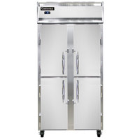 Continental Refrigerator 2FSE-HD 36 1/4 inch Solid Half Door Slim Line Reach-In Freezer - 30 cu. ft.