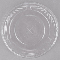 Choice 10 oz. Clear Plastic Lid with Straw Slot   - 50/Pack
