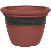 Grosfillex US440442 Cordoba 20 inch Clay Red Planter - 3/Pack