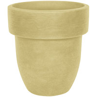 Grosfillex US203399 Toledo 16 inch Travertine Stacking Planter - 6/Pack