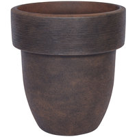 Grosfillex US203116 Toledo 16 inch Rust Stacking Planter - 6/Pack
