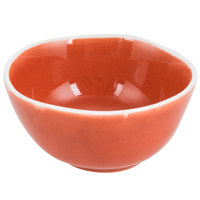 Arc Cardinal Arcoroc FJ630 Canyon Ridge 5.75 oz. Orange Porcelain Bowl - 48/Case