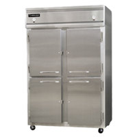 Continental Refrigerator 2RF-SA-HD 52 inch Half Door Dual Temperature Reach-In Refrigerator / Freezer - 40 cu. ft.