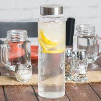 Libbey 92170 Kinetix 33 oz. Glass Water Bottle with Metal Lid - 12/Case