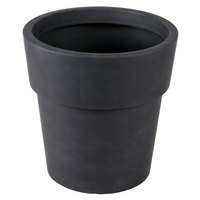 Grosfillex US752113 Solta 15 inch Brushed Blackwash Planter - 5/Pack