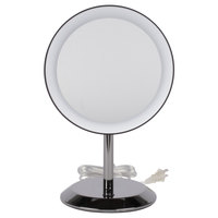 Conair BE50LBCHW 9 inch Black Chrome Freestanding LED Lighted Vanity Mirror with On / Off Push Button