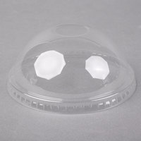 Choice 32 oz. Clear Plastic Dome Lid with Hole - 500/Case