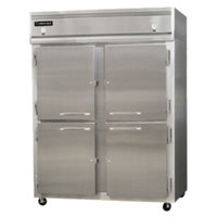 Continental Refrigerator 2RFE-SS-HD 57 inch Half Door Extra-Wide Dual Temperature Reach-In Refrigerator / Freezer- 42 cu. ft.