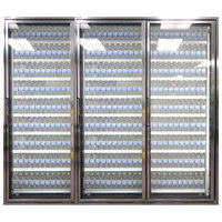 Styleline CL2672-HH 20//20 Plus 26 inch x 72 inch Walk-In Cooler Merchandiser Doors with Shelving - Anodized Bright Silver, Right Hinge - 3/Set