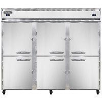 Continental Refrigerator 3RFFE-HD 85 1/2 inch Half Door Extra-Wide Dual Temperature Reach-In Refrigerator / Freezer / Freezer - 71 cu. ft.