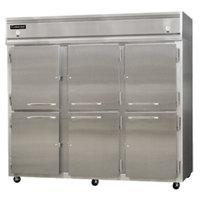 Continental Refrigerator 3RFFE-SS-HD 85 1/2 inch Half Door Extra-Wide Dual Temperature Reach-In Refrigerator / Freezer / Freezer - 71 cu. ft.