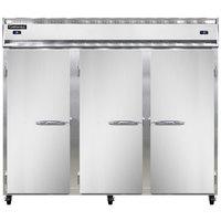 Continental Refrigerator 3RFFE 85 1/2 inch Solid Door Extra-Wide Dual Temperature Reach-in Refrigerator / Freezer / Freezer - 71 cu. ft.