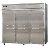 Continental Refrigerator 3RFFE-SA-HD 85 1/2 inch Half Door Extra-Wide Dual Temperature Reach-In Refrigerator / Freezer / Freezer - 71 cu. ft.